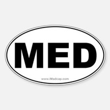 MED Car Oval Decal