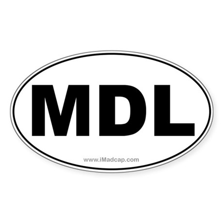 MDL Car Oval Sticker