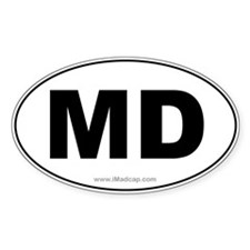 MD Car Oval Decal