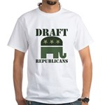 DRAFT REPUBLICANS White T-Shirt