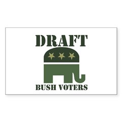 DRAFT BUSH VOTERS Rectangle Decal