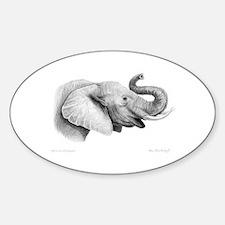Lucky Elephant ~ Oval Decal