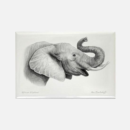 Lucky Elephant ~ Rectangle Magnet