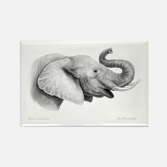 Lucky Elephant ~ Rectangle Magnet (10 pack)