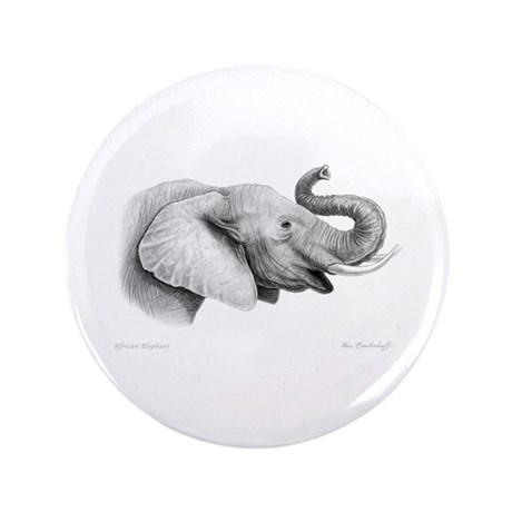"Lucky Elephant ~ 3.5"" Button (100 pack)"