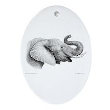 Lucky Elephant ~ Oval Ornament