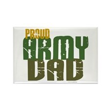 Proud Army Dad 1 Rectangle Magnet (100 pack)