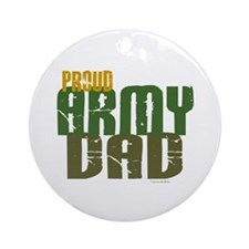 Proud Army Dad 1 Ornament (Round)