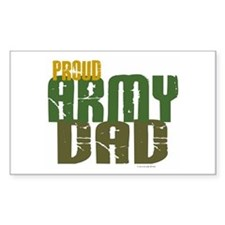 Proud Army Dad 1 Rectangle Decal