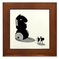 Chess - Trojan Horse Framed Tile
