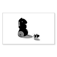 Chess - Trojan Horse Rectangle Decal