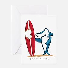 Love Bites Surfing Valentine Greeting Card