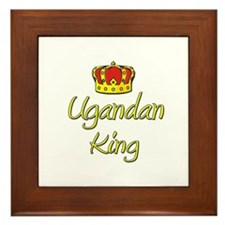 Ugandan King Framed Tile