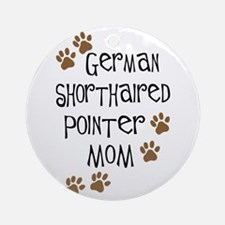 G. Shorthaired Pointer Mom Ornament (Round)