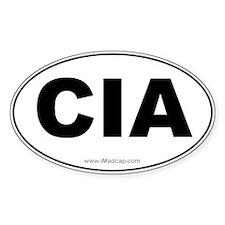CIA Car Oval Decal