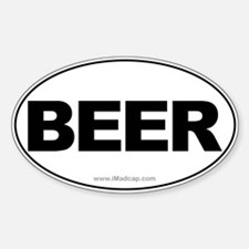 BEER Car Oval Decal