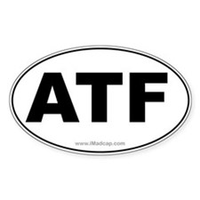 ATF Car Oval Decal