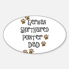 G. Shorthaired Pointer Dad Oval Decal