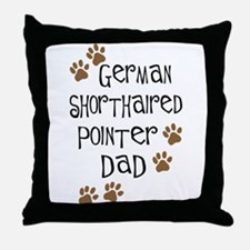 G. Shorthaired Pointer Dad Throw Pillow