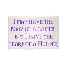 Heart of a Hunter Rectangle Magnet