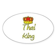 Thai King Oval Decal