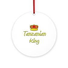 Tanzanian King Ornament (Round)