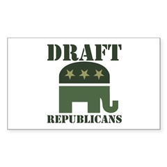 DRAFT REPUBLICANS Rectangle Decal