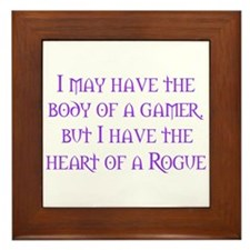 Heart of a Rogue Framed Tile