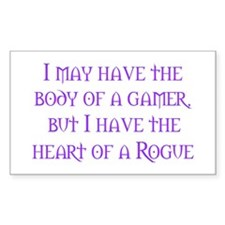 Heart of a Rogue Rectangle Decal