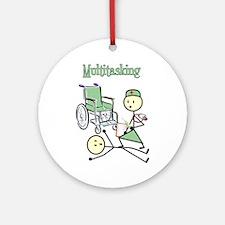 Nurse Multitasking Ornament (Round)