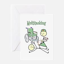 Nurse Multitasking Greeting Card