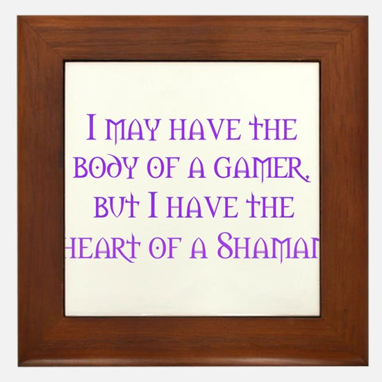 Heart of a Shaman Framed Tile