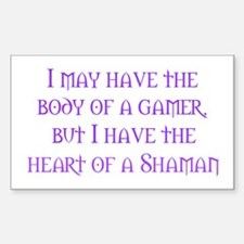Heart of a Shaman Rectangle Decal
