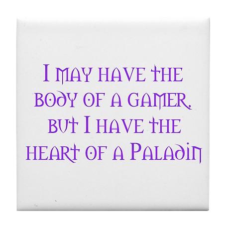 Heart of a Paladin Tile Coaster