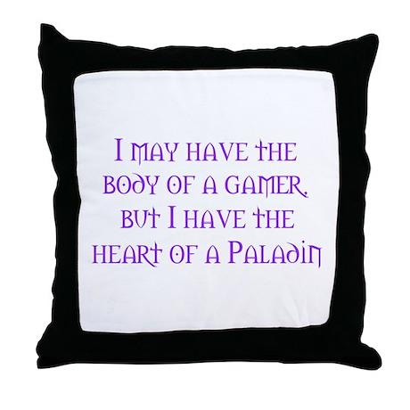 Heart of a Paladin Throw Pillow