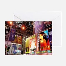 Broadway at Night Greeting Card