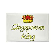 Singaporean King Rectangle Magnet