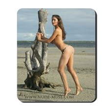 Nude Angela at the Beach Mousepad