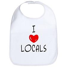 """I Love Locals"" Bib"