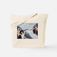 Creation & Tri Collie Tote Bag