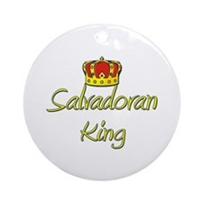 Salvadoran King Ornament (Round)