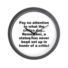 Funny Paying attention Wall Clock