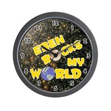 Eben Rocks My World (Gold) Wall Clock