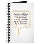 Stupid Painting Remarks Journal