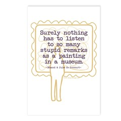Stupid Painting Remarks Postcards (Package of 8)