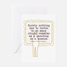 Stupid Painting Remarks Greeting Cards (Pk of 10)