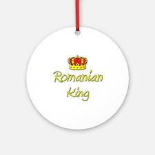 Romanian King Ornament (Round)
