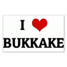 I Love BUKKAKE Rectangle Decal
