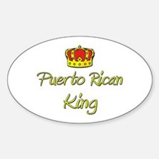Puerto Rican King Oval Decal