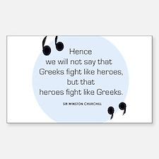 Greek Heroes Rectangle Decal